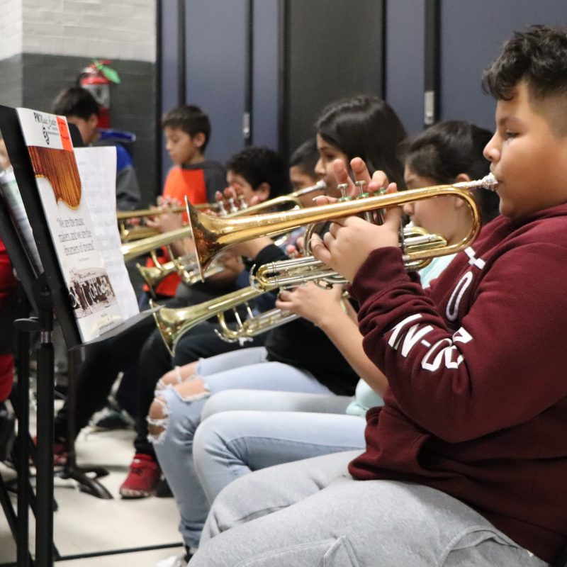 Beaupre Band performs for school.